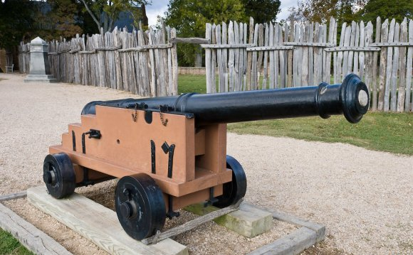 A cannon defends Jamestown