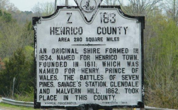 Henrico County Marker, Z-193
