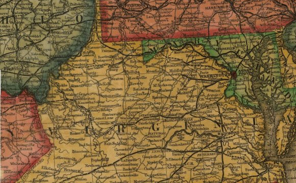 Map Of Virginia Before The