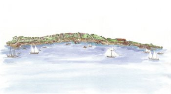Alexandria Waterfront Drawing by Elizabeth Luallen image