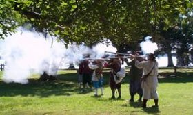 Demonstration of Match Lock Musket Firing