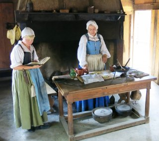 planning 17th-century dishes at Jamestown Settlement