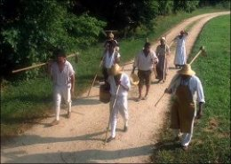 Slaves going back from areas