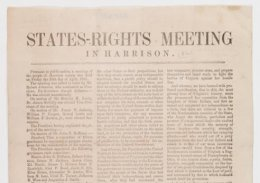 States-Rights satisfying in Harrison [County], April 1861