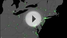 Virginia quake resulted in 5,500 tweets per second, map