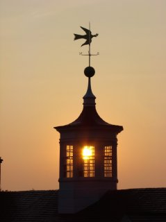View of cupola along with its iconic dove of comfort weathervane