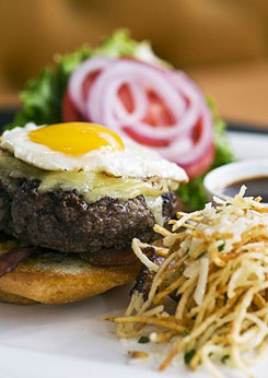 browse TJ's at the Jefferson Hotel for top burger in the city.