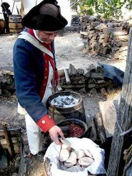 Yorktown Victory Center camp rations